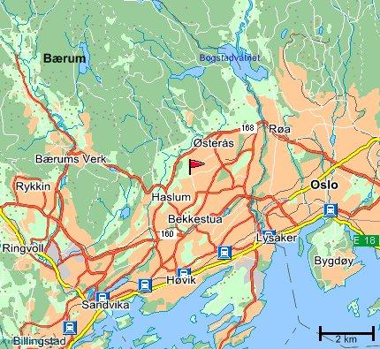 bærum kart Hvor er Hosle Skole? bærum kart